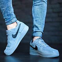 Мужские кроссовки Nike с мехом, замш (ТОП-реплика)