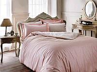 Комплект постельного белья Tivolyo Home Punto двуспальный - евро, розовый