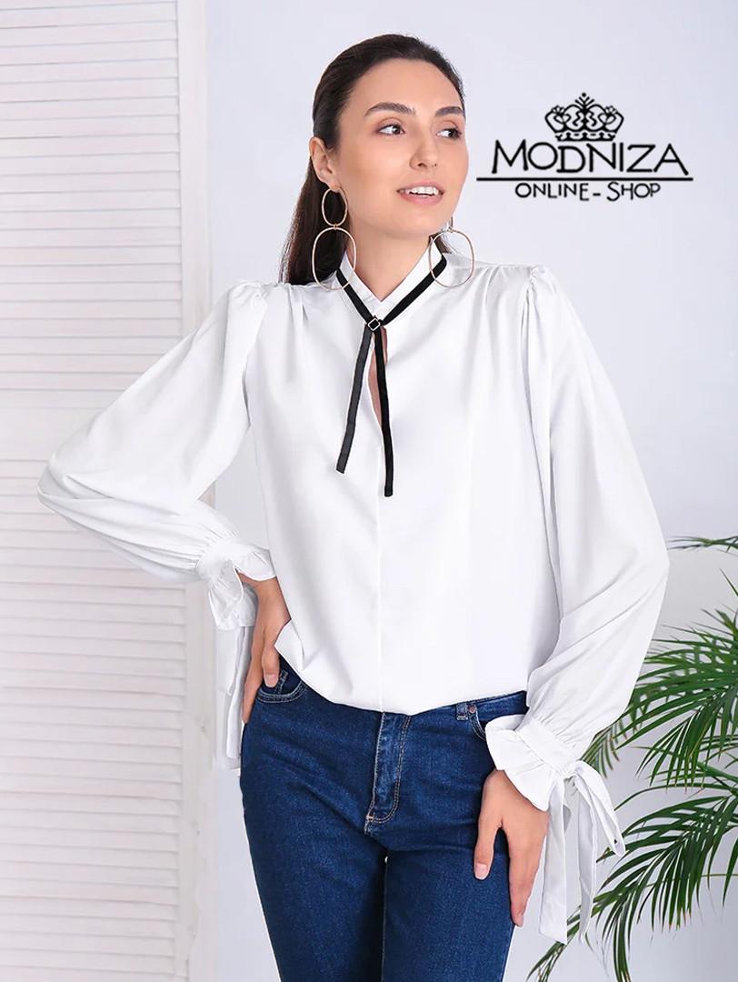 "Жіноча блузка з довгим рукавом ""Mentola"" Батал"