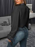 """Жіноча блузка з довгим рукавом """"Mentola"""" Батал, фото 2"""