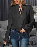 """Жіноча блузка з довгим рукавом """"Mentola"""" Батал, фото 3"""