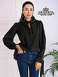 """Жіноча блузка з довгим рукавом """"Mentola"""" Батал, фото 4"""