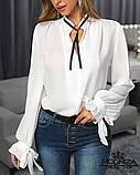 """Жіноча блузка з довгим рукавом """"Mentola"""" Батал, фото 5"""