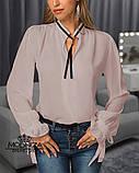 """Жіноча блузка з довгим рукавом """"Mentola"""" Батал, фото 6"""