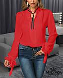 """Жіноча блузка з довгим рукавом """"Mentola"""" Батал, фото 7"""