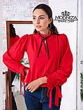"""Жіноча блузка з довгим рукавом """"Mentola"""" Батал, фото 8"""