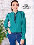 """Жіноча блузка з довгим рукавом """"Mentola"""" Батал, фото 9"""