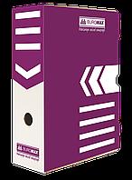 Архивный бокс для документов Buromax 100 мм фиолетовый BM.3261-07, фото 1