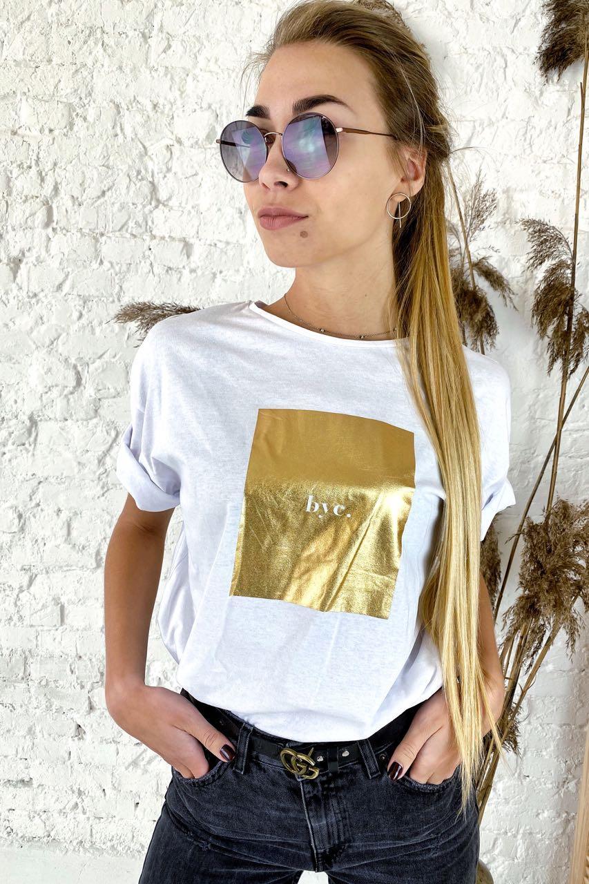 Необычная футболка с дерзкой надписью  Clew - белый цвет, S (есть размеры)
