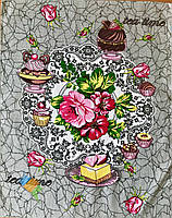 Полотенце Кухонное Хлопковое Кухонное Полотенце Tea Time С Рисунком 3 Вида 3 Шт В Упаковке Размер 57х45 см, фото 1
