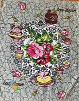 Рушник Кухонне Бавовняне Кухонне Рушник Tea Time З Малюнком 3 Види 3 Шт В Упаковці Розмір 57х45 см, фото 1