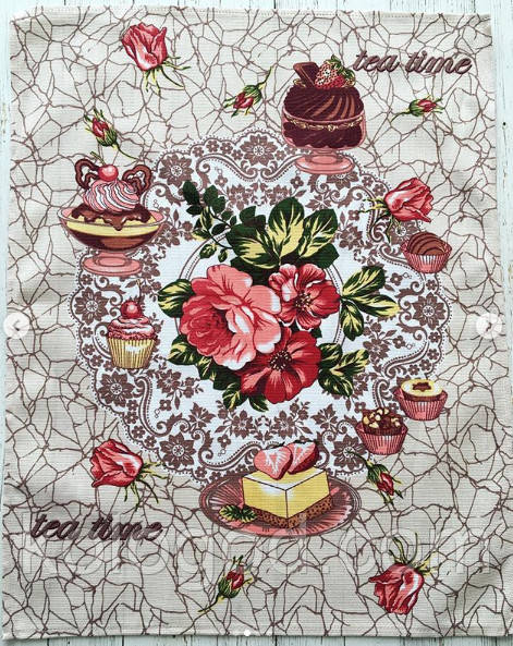 Полотенце Кухонное Хлопковое Кухонное Полотенце Tea Time С Рисунком 3 Вида 9 Шт В Упаковке Размер 57х45 см