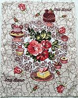 Полотенце Кухонное Хлопковое Кухонное Полотенце Tea Time С Рисунком 3 Вида 9 Шт В Упаковке Размер 57х45 см, фото 1