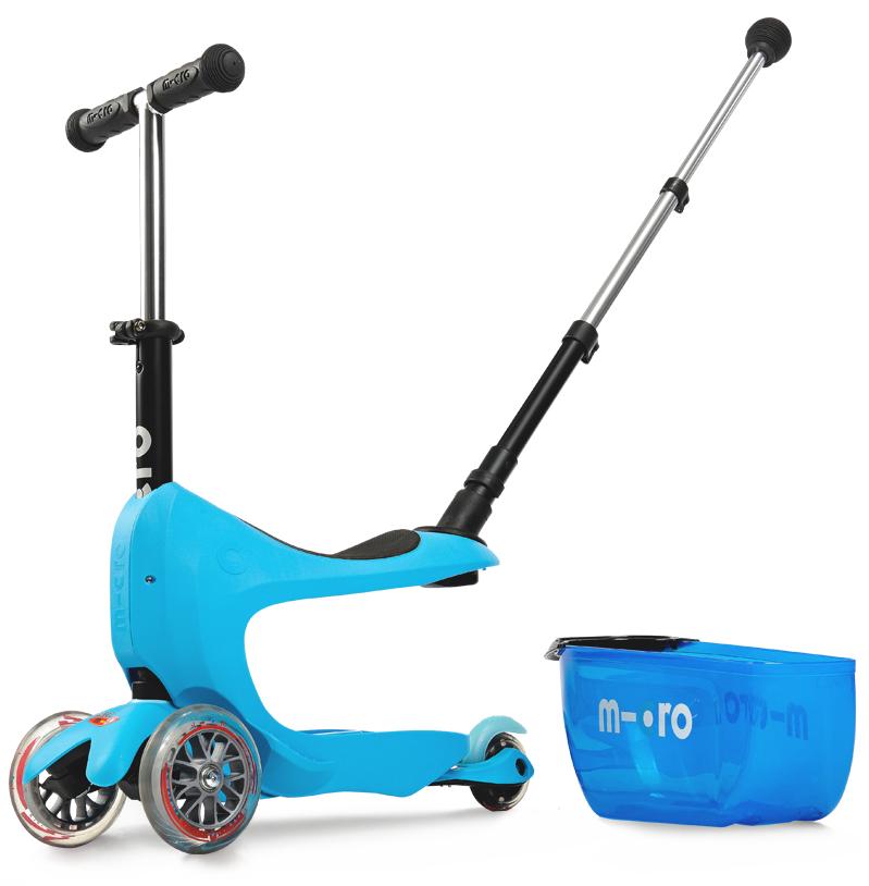 Самокат Micro Mini2go Blue Deluxe plus