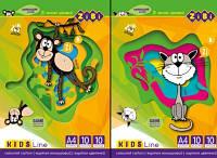 Картон кольоровий А4 10арк 10кол., 230г/м2 Kids Line
