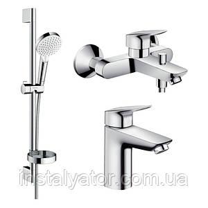 Набор смесителей для ванны Hansgrohe Logis 1082019
