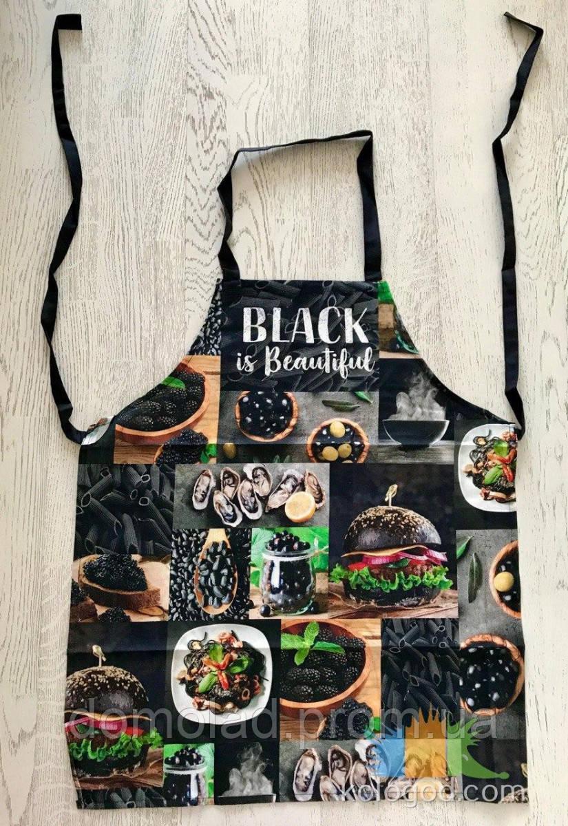 Фартук Передник Фартук Кухонный Tirotex Хлопок 100% Black Is Beautiful Размер 60*70 См