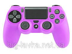 Силиконовый чехол для геймпада DualShock 4 (PS4) противоскользящий  Фиолетовый
