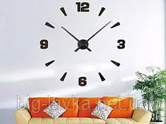 Часы наклейки 3D Diy M013 120 см  Черный