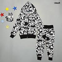 """Утепленный костюм """"Панды"""" для мальчика. 98-104;  110-116;  122-128 см"""