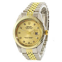 Часы Rolex Date Just Silver-Gold SKL39-225362