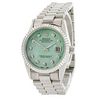 Часы Rolex Date Just Silver-Turquoise Pearl SKL39-225388