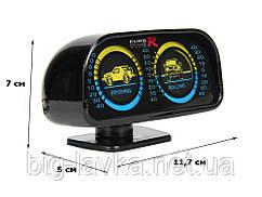 Кренометр автомобильный - измеритель угла наклона (Инклинометр) Euro R  Черный