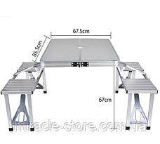Стіл для пікніка з 4 стільцями посилений Rainberg, Оригінал, фото 2
