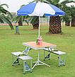 Стіл для пікніка з 4 стільцями посилений Rainberg, Оригінал, фото 3