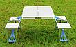 Стіл для пікніка з 4 стільцями посилений Rainberg, Оригінал, фото 4