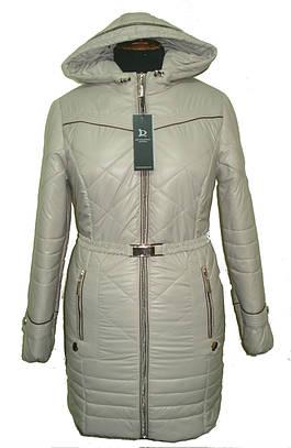 Куртка с капюшоном под пояс