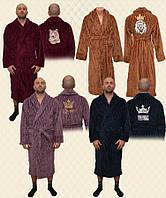 Халат мужской вышивка велсофт