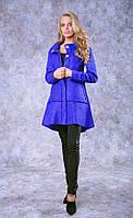 Пальто полиит 9010 шерсть, цвет электрик