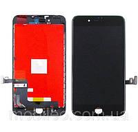 Дисплей (LCD) Apple iPhone 8 Plus с тачскрином, чёрный оригинал (Factory Refurbished)