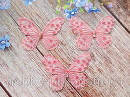 """Аплікація, """"Метелик шифонова"""", двошарова, колір на фото, 50х40 мм, 1 шт."""