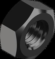 DIN934 Гайка М8х1 10 без покрытия. Гайка шестигранная, с мелким шагом резьбы [602080006008100100]