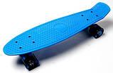 """Скейт скейтборд пенни борд 22"""" светящиеся колеса синий, фото 2"""