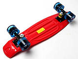 """Скейт скейтборд пенни борд 22"""" светящиеся колеса красный, фото 6"""