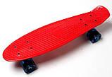 """Скейт скейтборд пенни борд 22"""" светящиеся колеса красный, фото 5"""