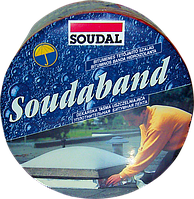 Лента монтажная битумная 10см/10м/RAL8017 коричневый Soudaband, SOUDAL Бельгия [00004000000SB1000U]