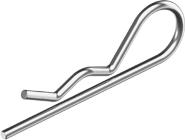 DIN11024 Шплинт 7, 0 (6, 3мм) пружинный, двойной, цинк белый, METALVIS Украина [95Z00000095Z700001]