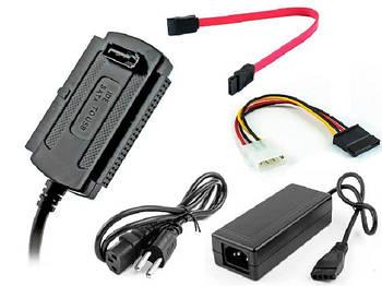 """Переходник USB 2.0 на IDE SATA 2.5 3.5 HDD с блоком питания для винчестеров 3.5"""" или 2.5"""""""