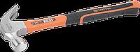 Молоток-гвоздодер 625г фиберглас, TACTIX Китай [INSHMHMGM062500FT0]