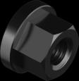 DIN6331 Гайка М18 фланцем высокая 10, без покрытия, METALVIS Украина [6V20000006WT180001]