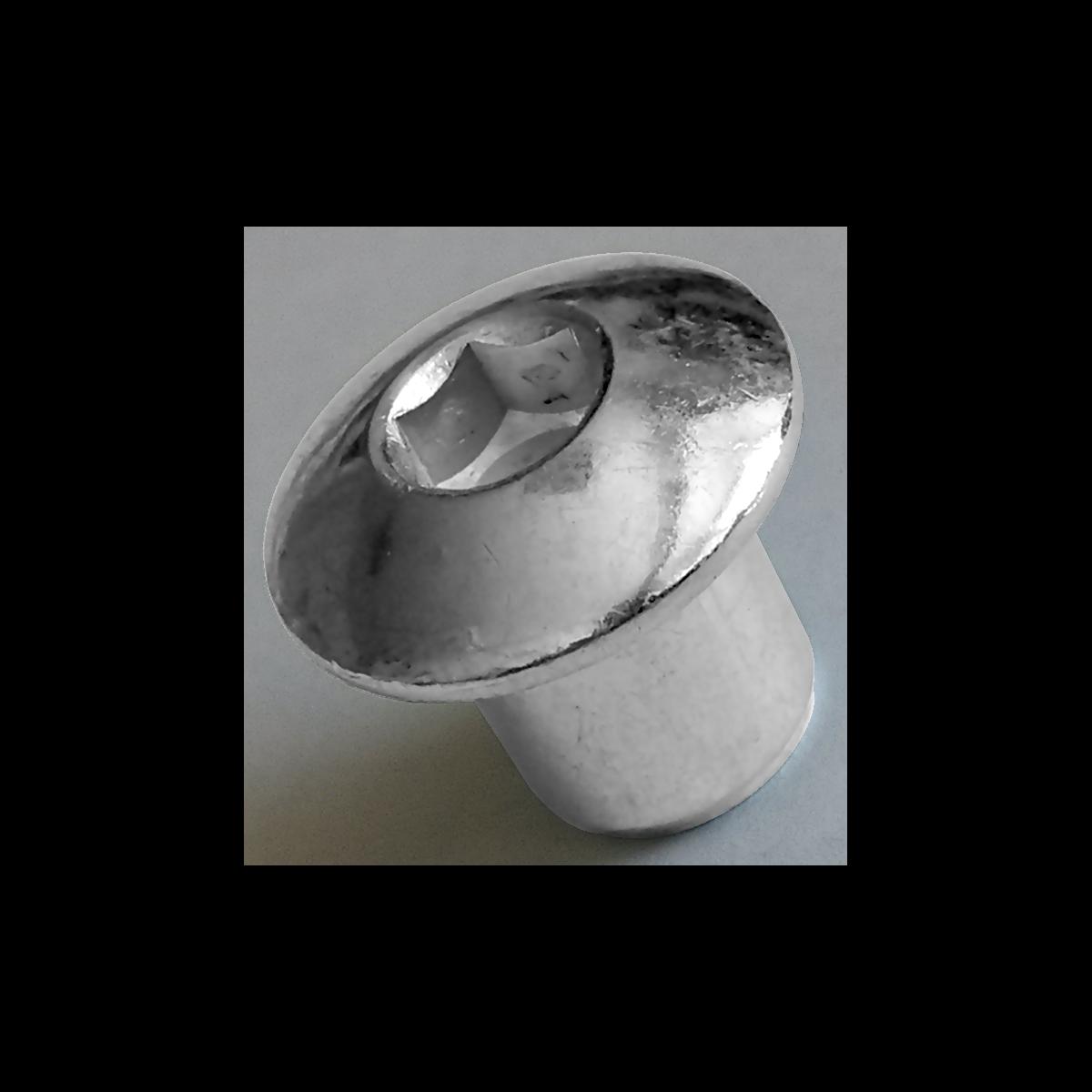 Гайка Еріксона М6х10 полукруглая головка, цинк белый, INB d9/D15 (JCN), METALVIS Украина [3SC2000003SC601520]