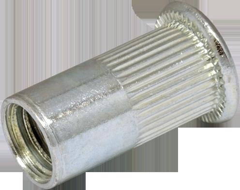 RFr-Гайка М3/1.5-3 клепальная, рифлена, плоская головка, D5, METALVIS Украина [97M20000097M20326P]