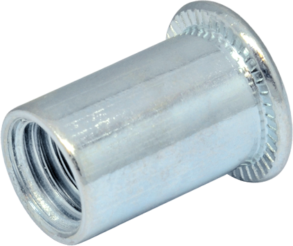 RF-Гайка М4/0, 5-2 клепальна, плоская головка, D6, METALVIS Украина [97M20000097M204250]