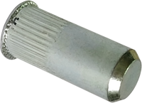 RSgr-Гайка М4/0, 5-2 клепальная, потайная головка, закрита рифлена ., METALVIS Украина [97M3000097M10420PZ]