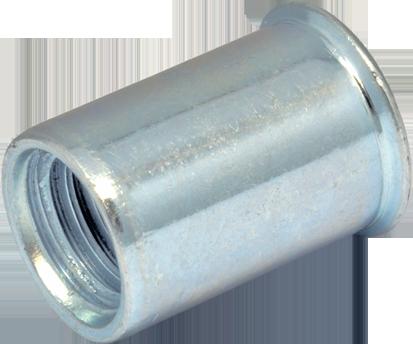 RSr-Гайка М8/3-5 клепальная, рифлена уменьшенная, потайная головка, D11, METALVIS Украина [97M10000097M10860P]