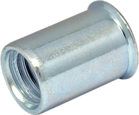 RS-Гайка М6/0, 5-2,5 клепальная, уменьшенная, потайная головка, D9, METALVIS Украина [97M10000097M106250]